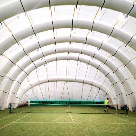 copertura gonfiabile campo da tennis